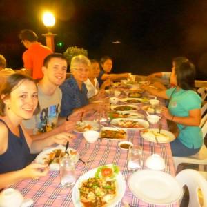 am zweitletzten Abend im Restaurant Makeeruna